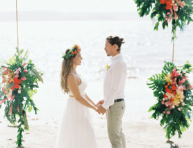 Colorful Costa Rica Wedding