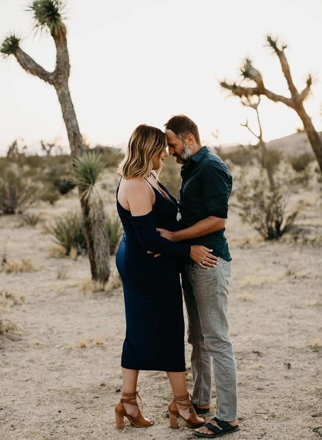 Joshua Tree Maternity Session at Sunset