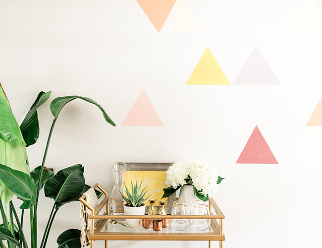 DIY Geometric Wall Mural