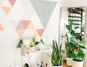 DIY Geometric Wall Mural