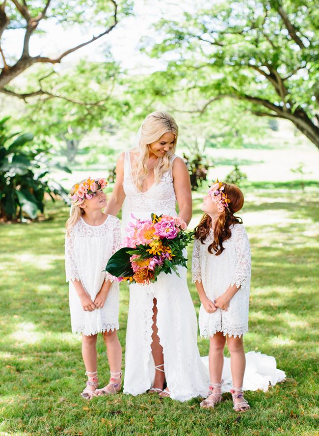 best weddings 2018, colorful tropical wedding