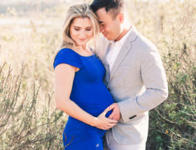 Newport Beach Maternity Photos in Blue