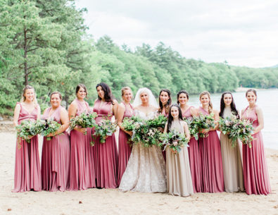Boho Camp Wedding by the Lake