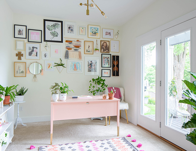 Bright Kid-Friendly Home Office