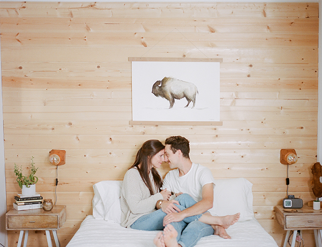 Cozy Bungalow Love Shoot in Portland
