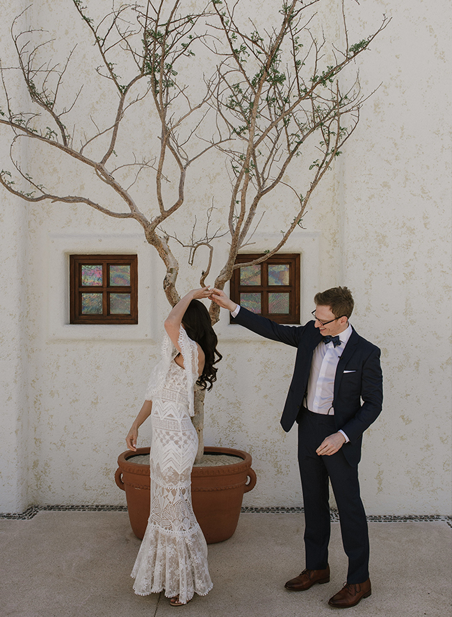 White and Gold Wedding at Flora Farms in Cabo