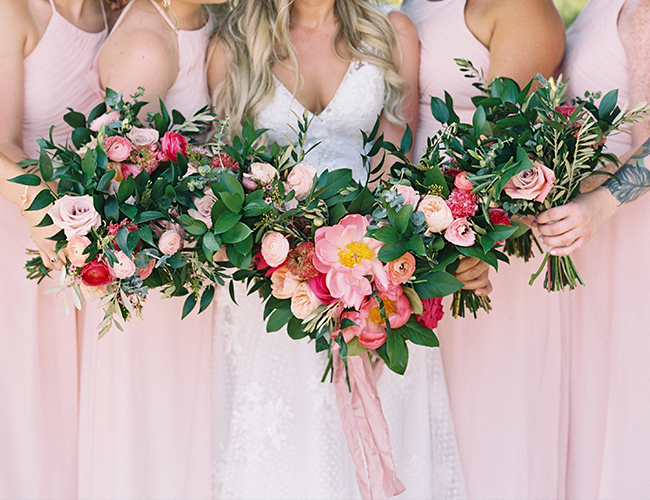 Citrus Orange and Pink Wedding