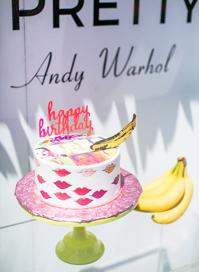 Andy Warhol Themed Birthday Party