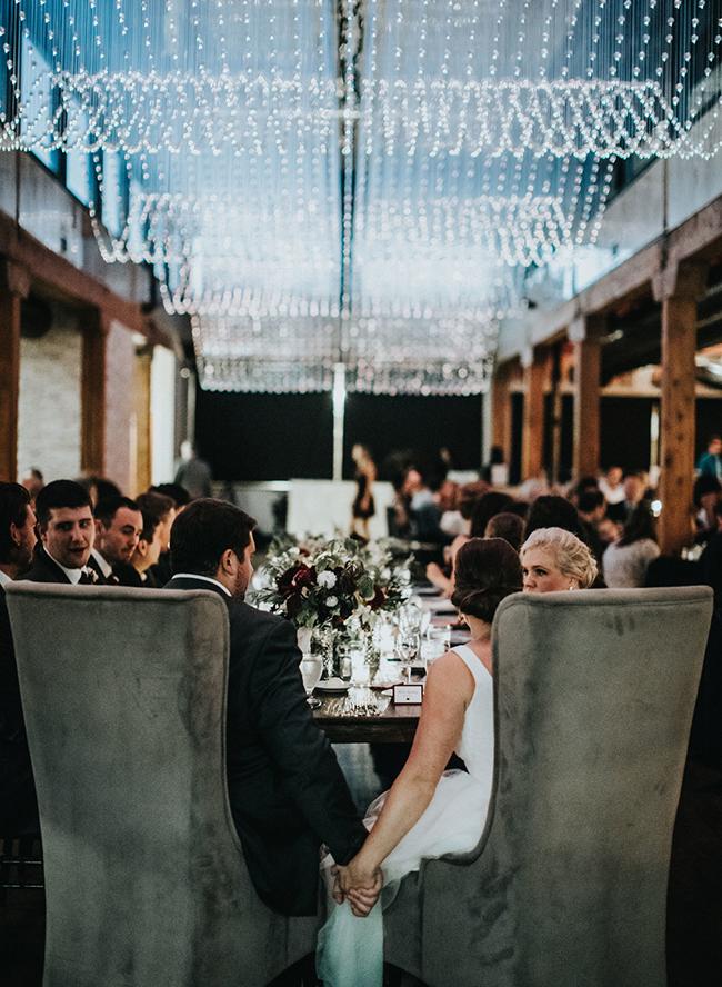 Urban Burgundy Fall Wedding