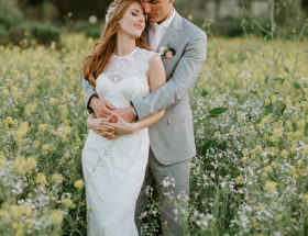 Pink and Grey Wedding in Ojai