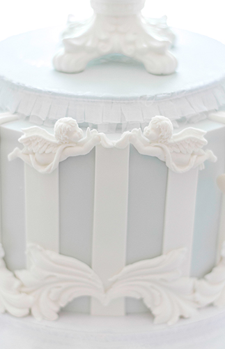Elegant Ivory and Blue Baby Shower
