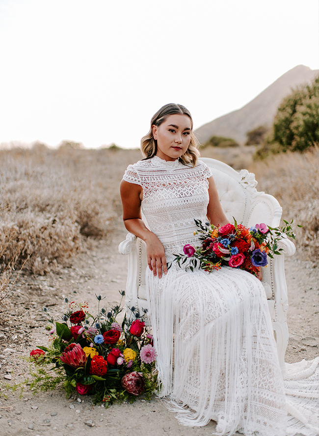 Bold and Colorful Bohemian Wedding Inspiration