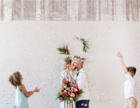Colorful Family Vow Renewal