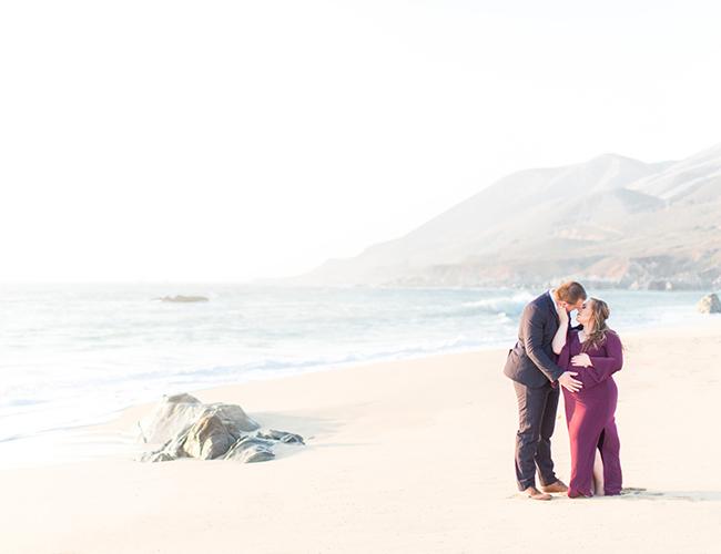 Big Sur Beach Maternity Photos