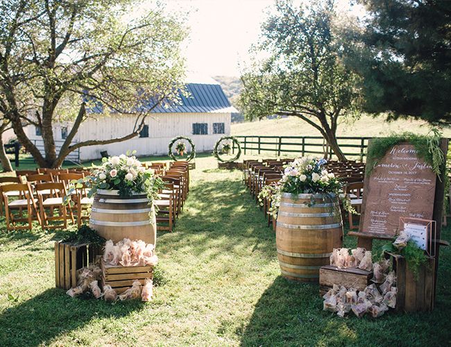 Autumn Wedding on a Virginia Farm