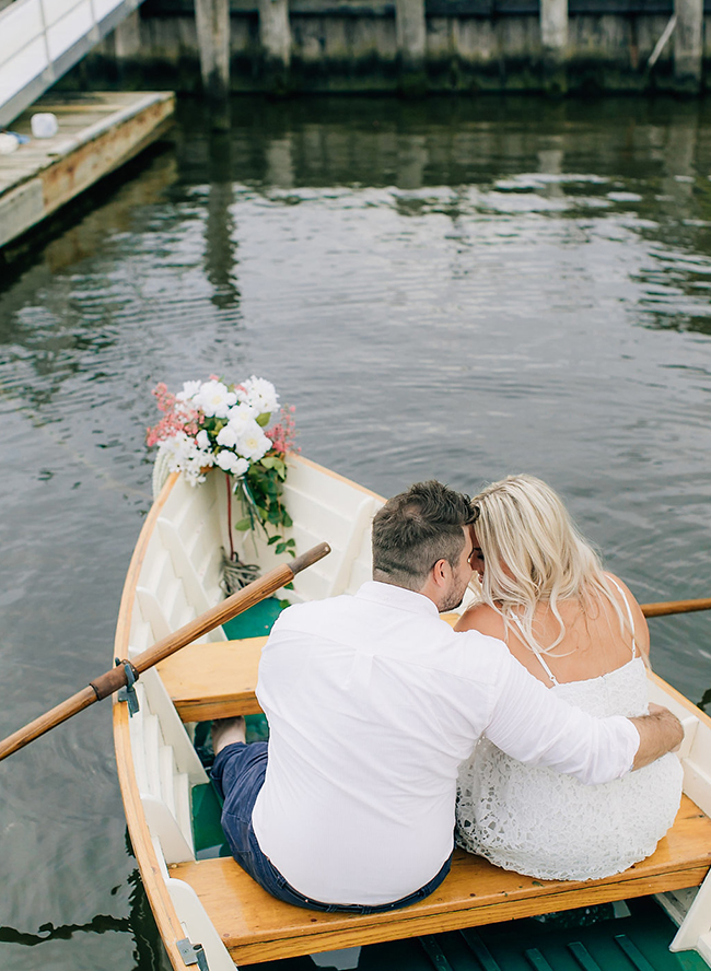 Romantic Nautical Engagement on The Water