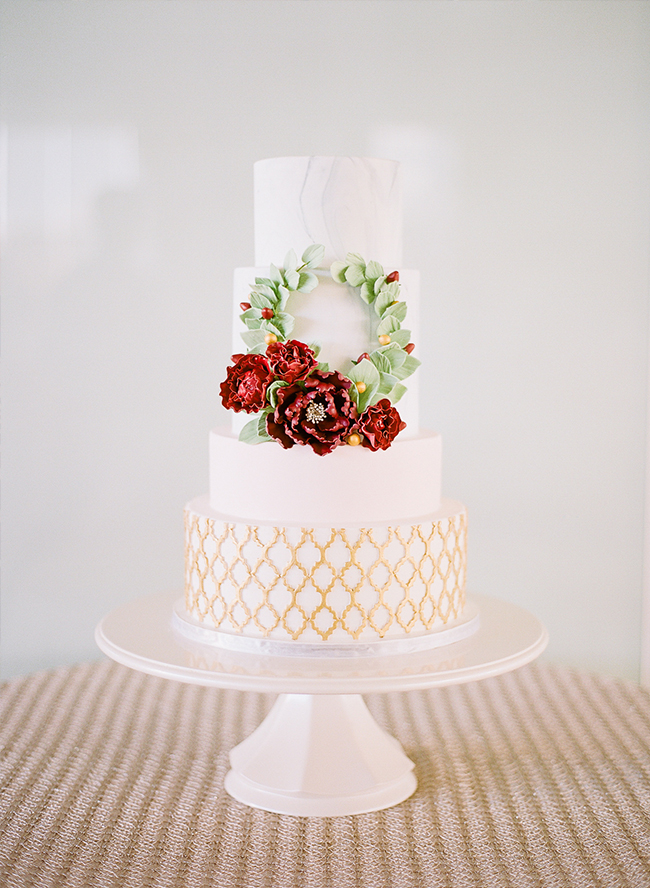 Glam Maroon and Gold Wedding