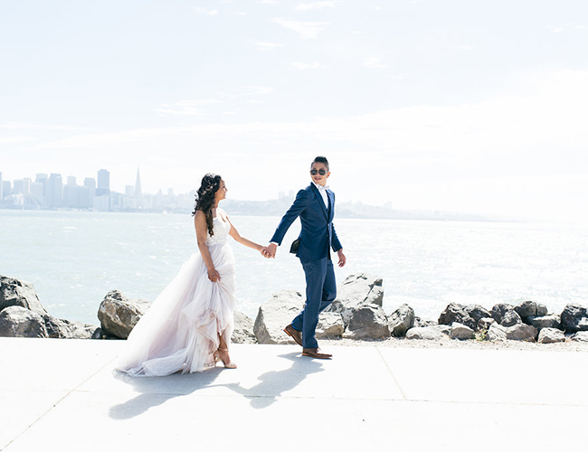 Pink and Navy Wedding in Treasure Island