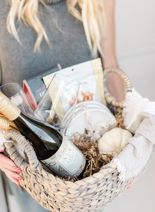 Homemade Hostess Gift Baskets for The Wine Lover