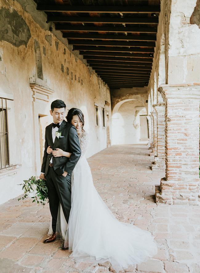 Romantic White Wedding in San Juan Capistrano