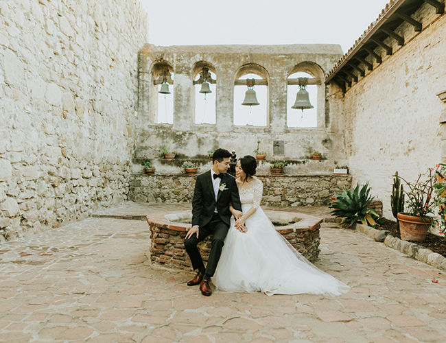 Romantic White Wedding in San Juan Capistrano