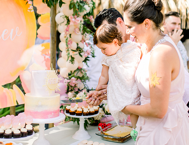 Ombré Sunshine Party for A Baby Baptism