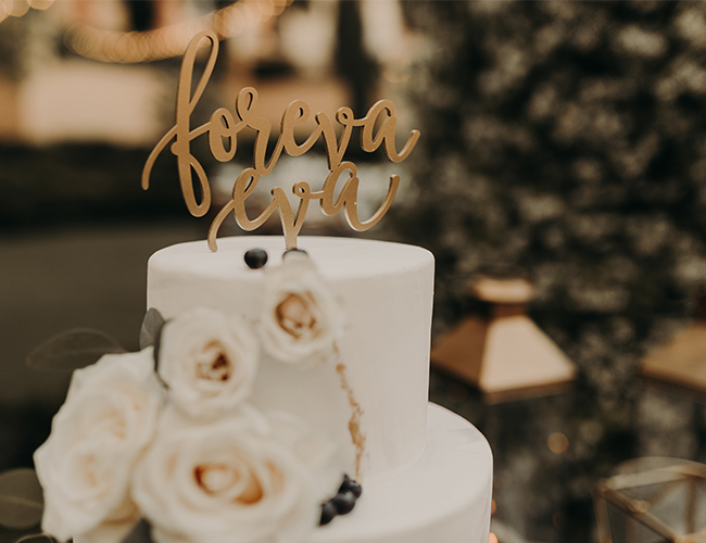 Modern Glam White and Gold Wedding