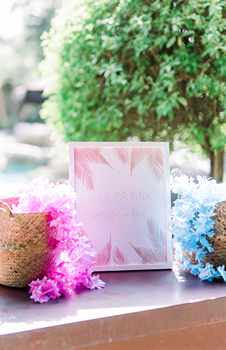 Colorful Tropical Gender Reveal