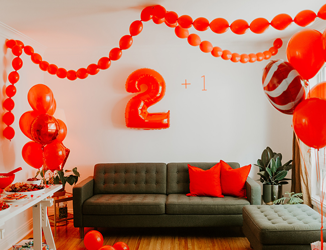 Red Third Birthday Party