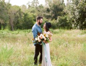 Stylish Autumn Engagement Photos