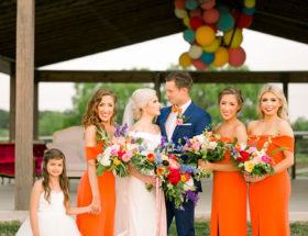 Bright Magenta and Orange Wedding Inspiration