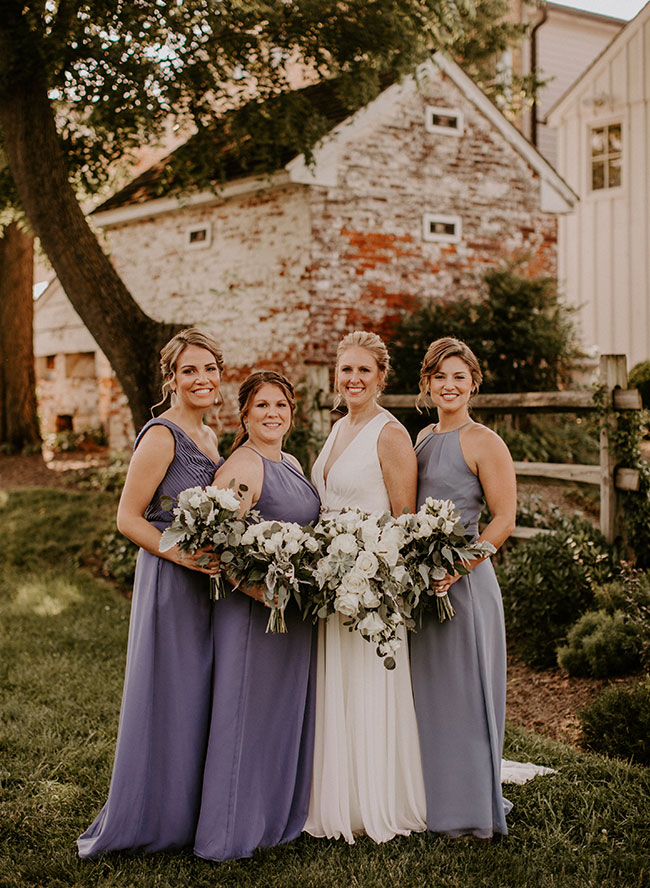 Vintage Blue and Green Wedding in Walkersville, Maryland