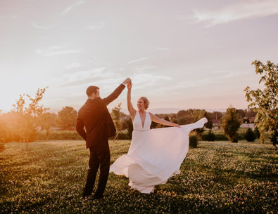 Vintage Blue and Green Wedding in Walkersville, Maryland