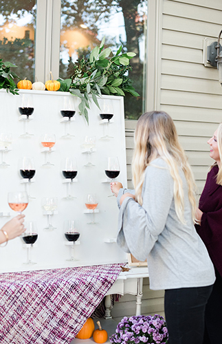 Feminine Friendsgiving Wine Tasting