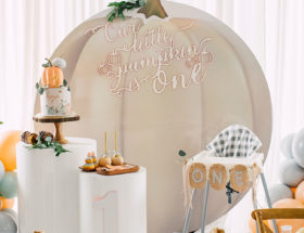 A Pumpkin Patch First Birthday Party