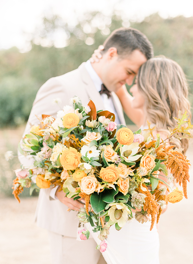 Gold Fall Inspired Anniversary Photos