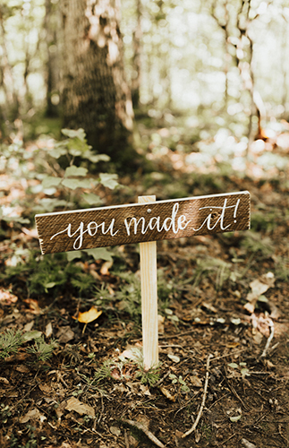 Natural Campground Wedding