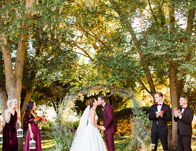 Elegant Burgundy Wedding Inspiration