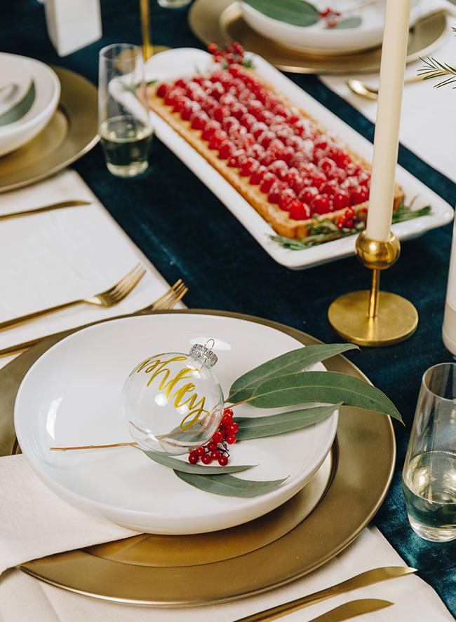 Modern Berry Holiday Dinner