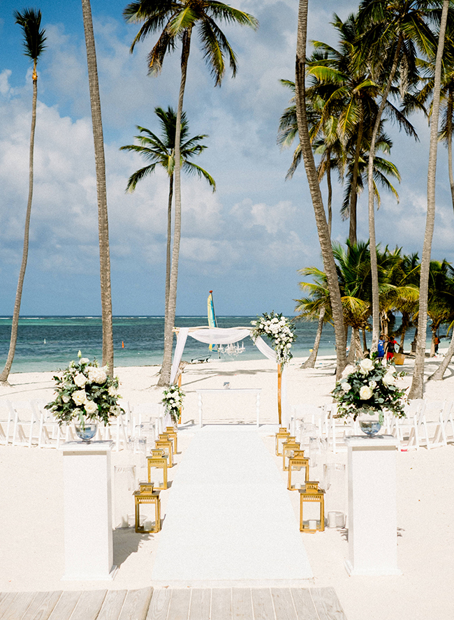Pink and Gold Beach Wedding in Punta Cana