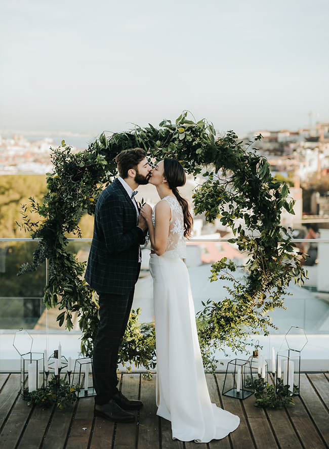 Rooftop Elopement in Lisbon