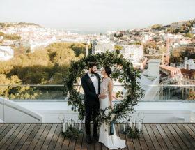 Rooftop wedding, wedding in portugal, weddings in portugal