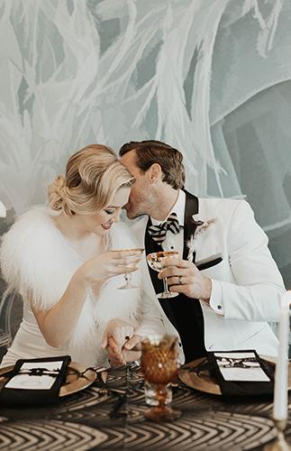 New Year's Eve Wedding, great gatsby wedding, 1920s wedding