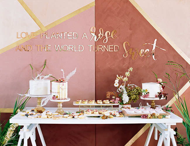 Rose Themed Baby Shower, modern baby shower