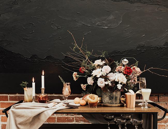 Moody Wedding, burgundy moody wedding