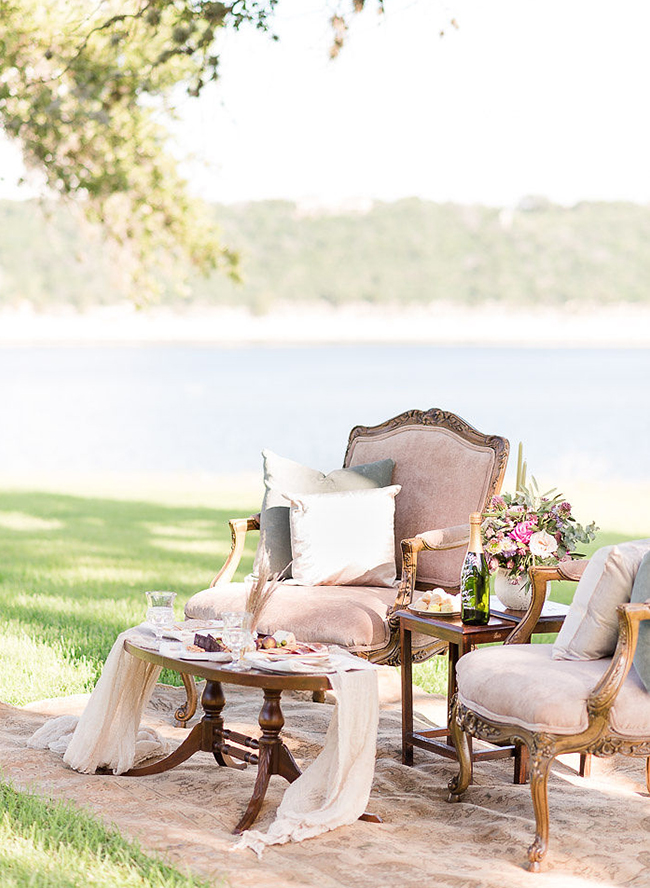 Lavender Lakefront Vow Renewal