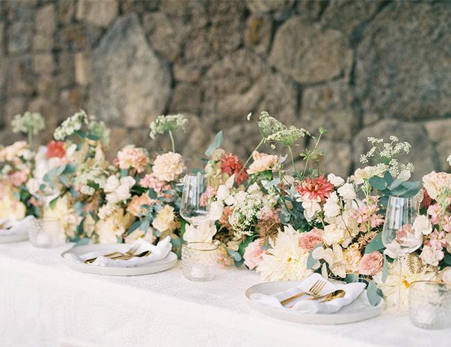 natural wedding, natural wedding colors, desert wedding
