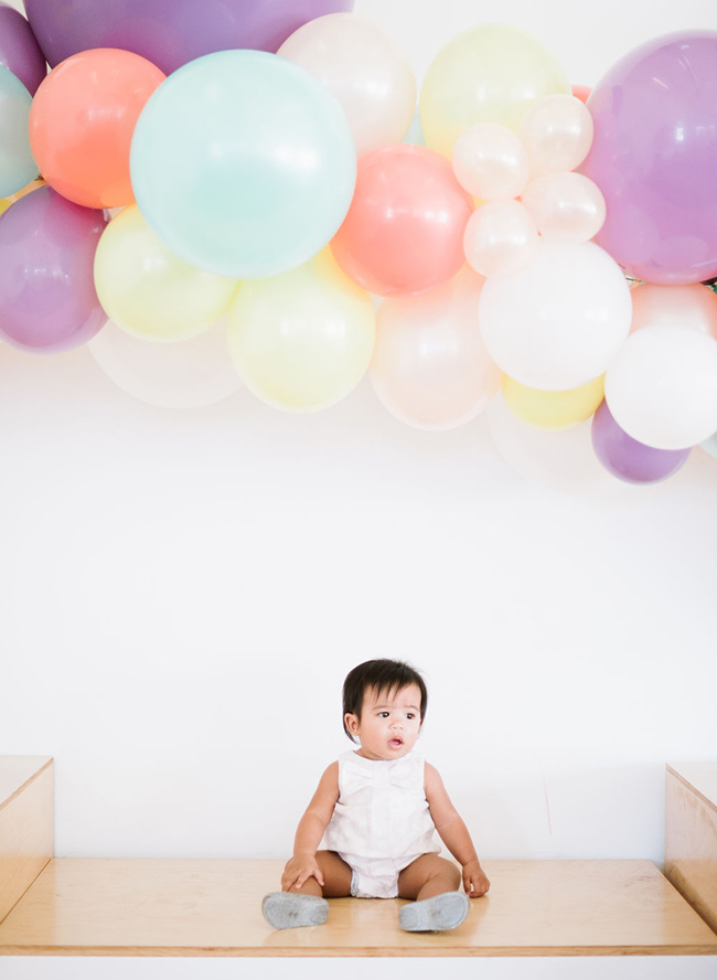 oh joy, colorful first birthday party