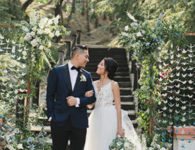 1000 Paper Cranes wedding, rancho las lomas