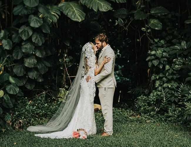 Waimea Valley wedding, boho wedding
